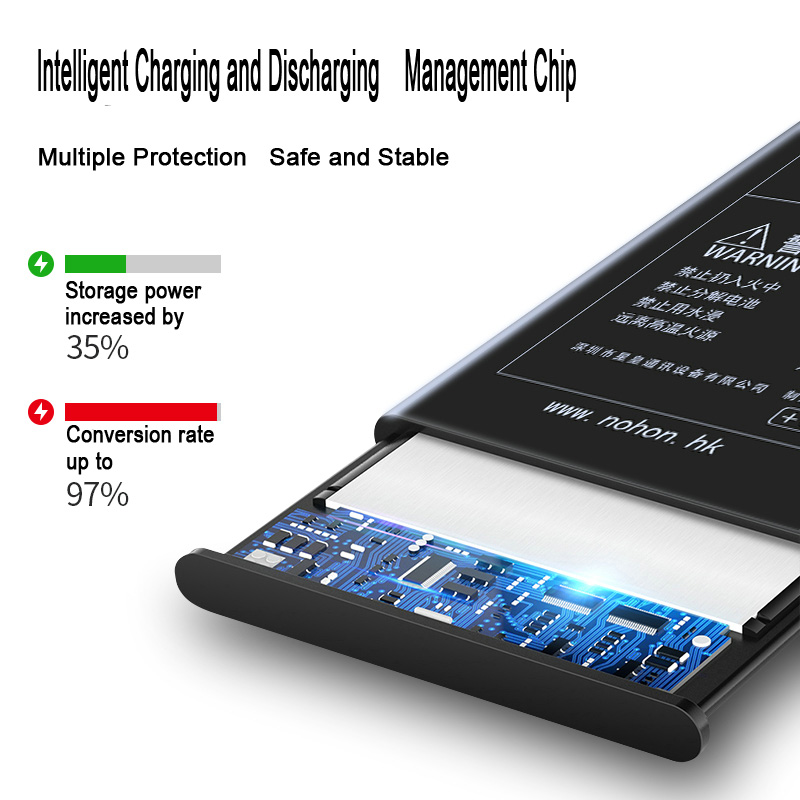 NOHON Phone Battery For iPhone 6 6S Plus 6Plus 6SPlus 7 iPhone6 High Capacity Replacement Lithium Polymer Bateria + Free Tools