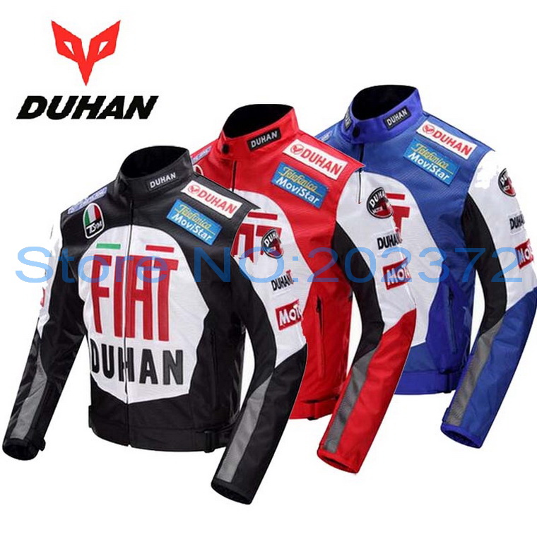 600D Oxford off road motorcycle jacket DUHAN professional Moto racing jackets motorcycle riding clothes Black blue red colors pro biker mcs 04 motorcycle racing half finger protective gloves red black size m pair