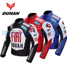 600D Oxford off road motorcycle jacket DUHAN professional Moto racing jackets motorcycle riding clothes Black blue red colors