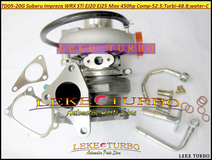 Turbo TD05 20G TD05-20G TD05-20G-8 565208-0100 Turbocharger For SUBARU Impreza WRX STI EJ20 EJ25 450HP Gaskets Pipe fitting Bolt  hosingtech for subaru impreza wrx grb ej25 07 ver 10 silicone turbo kit