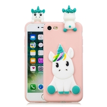 3D Unicorn Soft Phone Case for iPhone
