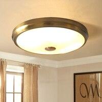 الذهب مصابيح LED مستديرة ضوء السقف غرفة المعيشة غرفة نوم مضيئة الزجاج المعادن لمبة عصرية غرفة نوم مطعم الممر الممر مصباح