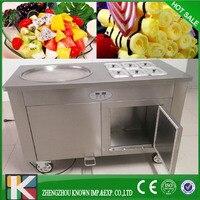 R410A Çok fonksiyonlu dondurma otomatı makinesi kızarmış dondurma makinesi ile 4 adet kürek|Dondurma makinesi|Ev Aletleri -