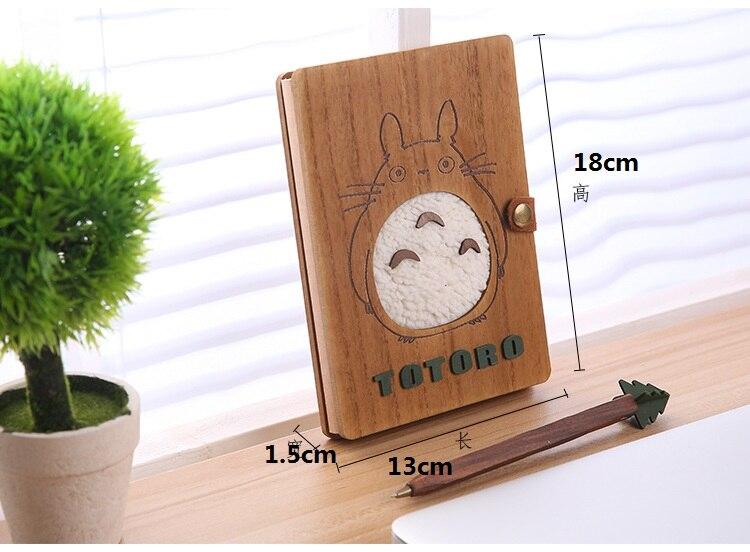 [4Y4A] Wooden notepad zakka Includes pen Moe Chinchilla notebook cartoon cartoon Korean thin diary Korean fine Two optional