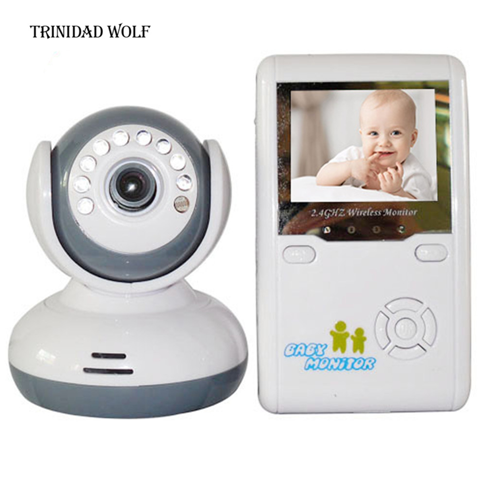 TRINIDAD WOLF 2.4TFT Digital Wireless Baby Video Monitor One Camera IR Night Vision Intercom Electronic Babysitter Two-way talk