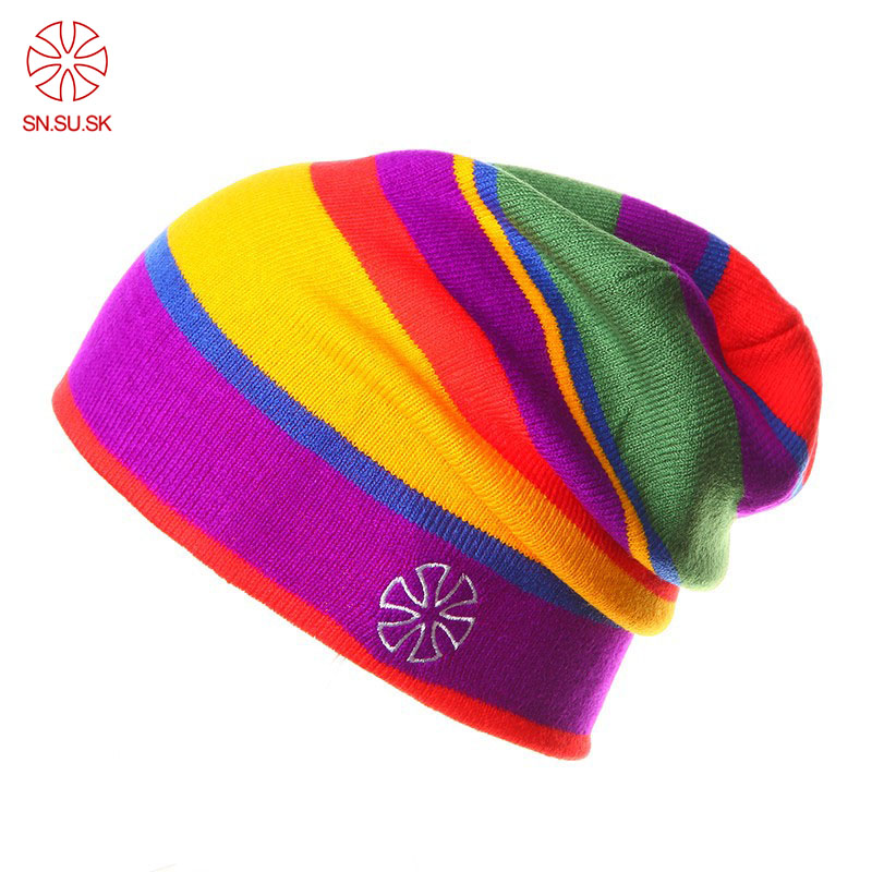 2019 Winter gorros Brand New Unisex Wool Thicken Warm   Beanie   Cap In Winter Womens Knitted Ski Hats Mens   Beanies   21 Colors