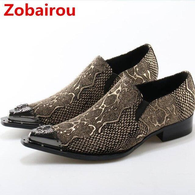 Herren Metallkappe Samt Zobairou Marken Schuhe Männer Italienische UzjpSVGLqM
