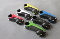 3 K Renkli Parlak Tam Karbon Fiber Bisiklet Kök 28.6*80mm/90mm/100mm/110mm MTB/Yol Bisiklet Parçaları