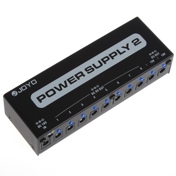JOYO JP-02 3 Power Options Power Supply 2 with 10 Isolated Outputs for Guitar Effects