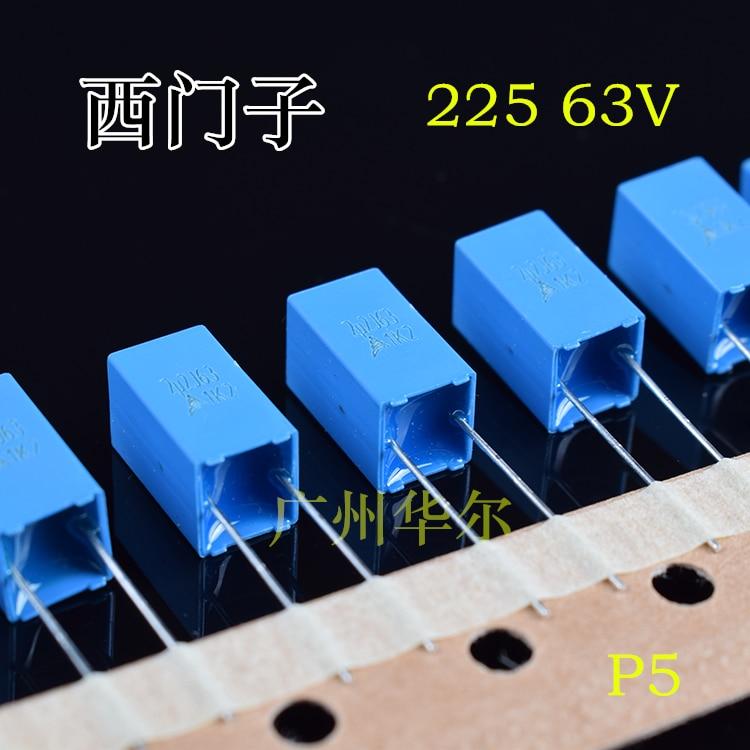 2019 Hot Sale 20PCS/50PCS Correction 225 63V 2.2UF 2U2 Original Imported EPCOS Film Capacitor Free Shipping