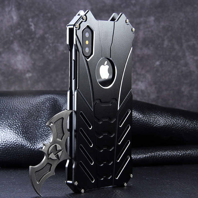 Case Voor Apple Iphone 12 Pro Max 11 Pro X Xs Max Xr Se 2020 6 6S 7 8 plus Mini Aluminium Metal Armor Shockproof Cover Telefoon Shell