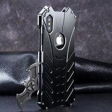 애플 아이폰 11 프로 X XS 맥스 XR 5 Se 6 6s 7 8 플러스 12 프로 케이스 알루미늄 금속 배트맨 갑옷 보호 Shockproof 전화 커버