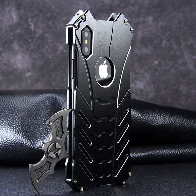 Appleのiphone 11 プロx xs最大xr 5 se 6 6s 7 8 プラス 12 プロケースアルミ金属バットマン鎧保護耐震電話カバー
