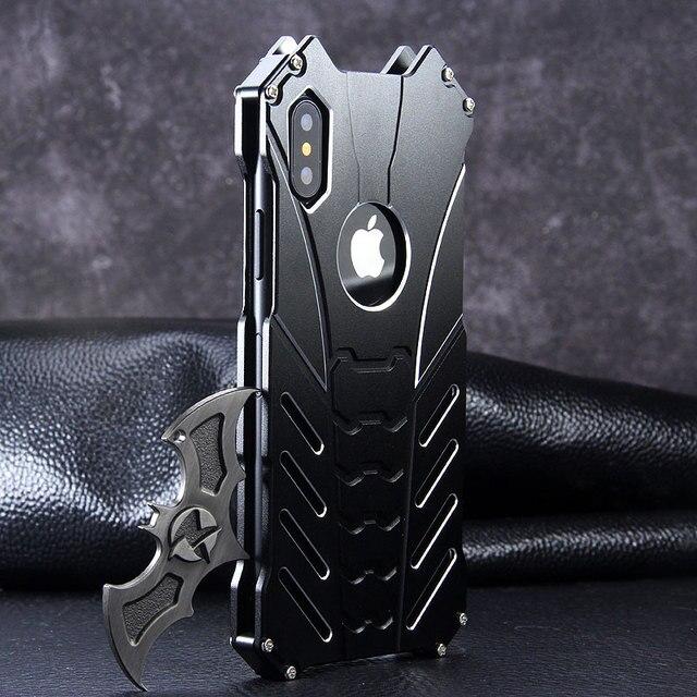 For Apple IPhone 11 PRO X XS MAX XR 5 Se 6 6s 7 8 Plus 12 pro Case Aluminum Metal Batman Armor Protective Shockproof Phone Cover