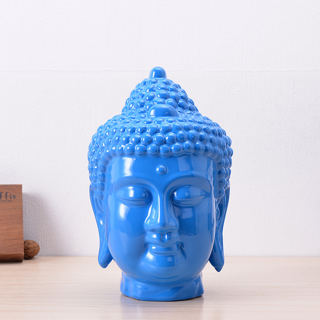 New Handmade Colorful Creative Resin Buddha Head Ornaments Modern Home  Decorations Soft Furniture Decorative Table Accessories
