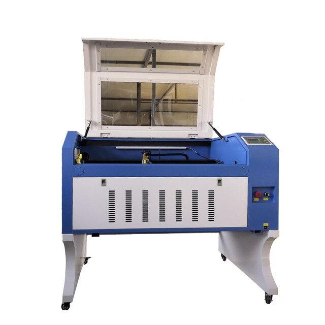 6090 bois verre gravure laser machine avec 90W reci laser tube Ruida 6442s système laser machine de gravure couleur belle