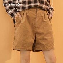 Flare ขายร้อนฤดูร้อนสบายๆหลวมกางเกงขาสั้นสตรีกางเกงขาสั้นผ้าฝ้ายสีทึบ Samstree 2