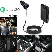 4 Port USB Passenger QC3.0 Quick Car Charger Extending USB H