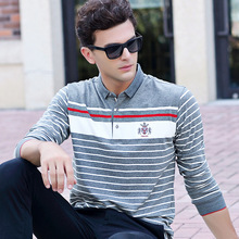2017 Fashion Embroidered Logo Mens Polo Shirts Brands 23 Colors Casual Polo Long Sleeve Shirts For Men Size 3xl