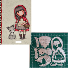fox Girl Metal Cutting Dies 2019 Scrapbooking Craft Cut Stamps Embossing Stencils Invitation Card Making