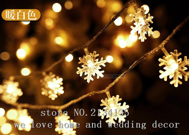 10M100LED lights flashing light string stars lights snow Christmas ...