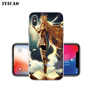 Image 5 - IYICAO Saint Seiya Soft Silicone Phone Case for  iPhone X XR XS MAX 6 6s 7 8 Plus X 5 5S SE TPU Cover