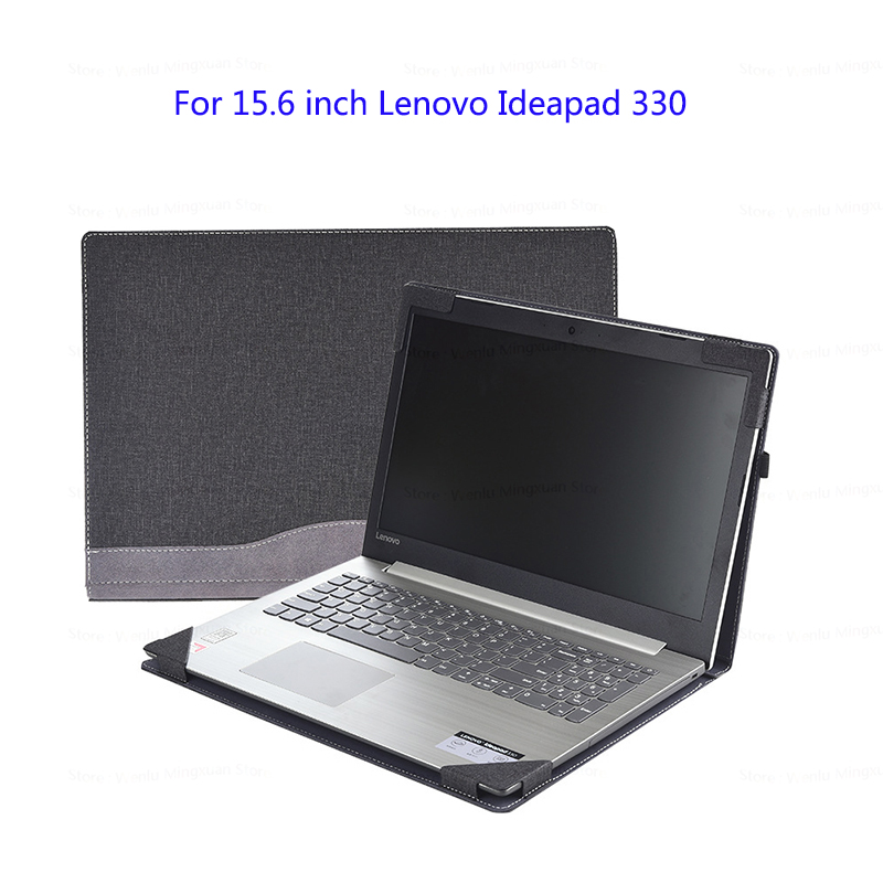 Laptop Sleeve For 15.6 Lenovo Ideapad 330 320 310 PU Leather Split Design Protective Cover For Ideapad 520 510 Handy Laptop Case