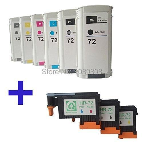 Tête d'impression Compatible 72 HP avec cartouche d'encre HP 72 pour imprimante HP Designjet T1100 T1120 T1120ps T1100ps 1100 T610 T620 T1100