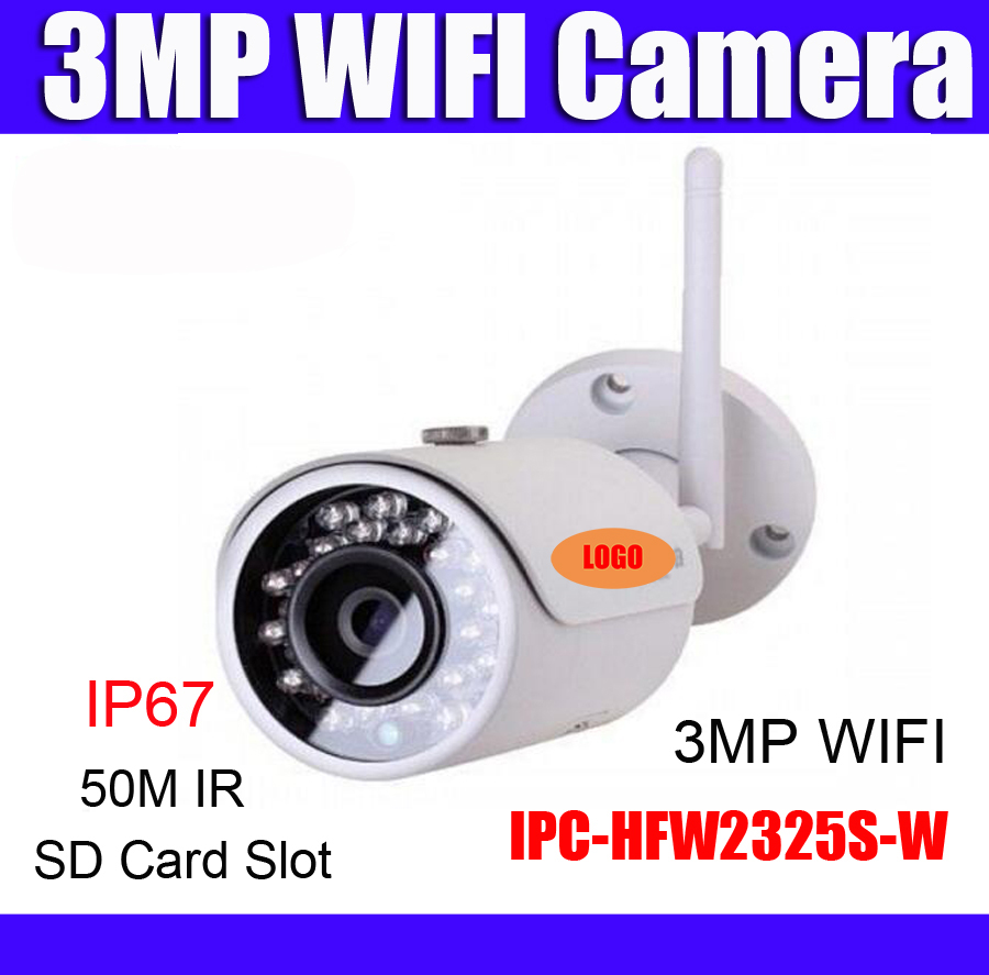 wifi ip camera IPC HFW2325S W replace IPC HFW1320S W 3MP IP67 SD Card slot wireless
