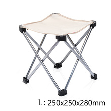 Outdoor Foldable Folding Ultra Light Fishing Picnic BBQ Garden Chair Tool Square Camping  Chair