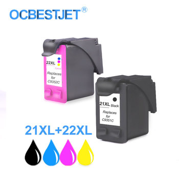 Refill For HP 21XL 22XL Full Ink Cartridge Replacement For HP Deskjet 3915 3920 F380 F2180 F4100 F4180 Printer For HP 21 22