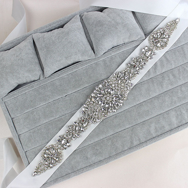 Cheap Price New Fashion Wedding Belt Crystal Bridal Sash Rhinestone Dress Sash Women Prom Wedding Sash Belt