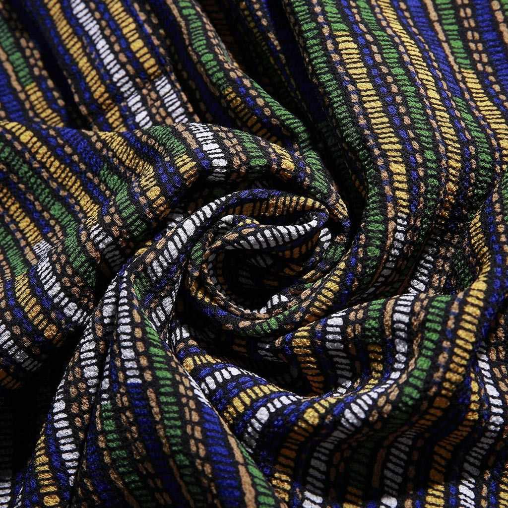 Nuovi Arrivi Slim Fit Mens Camicia Maschile Etnico Stampato Stand Collare Colorato Della Banda Del Manicotto Del Bicchierino Allentato Henley Camicia M-3XL vendite #30