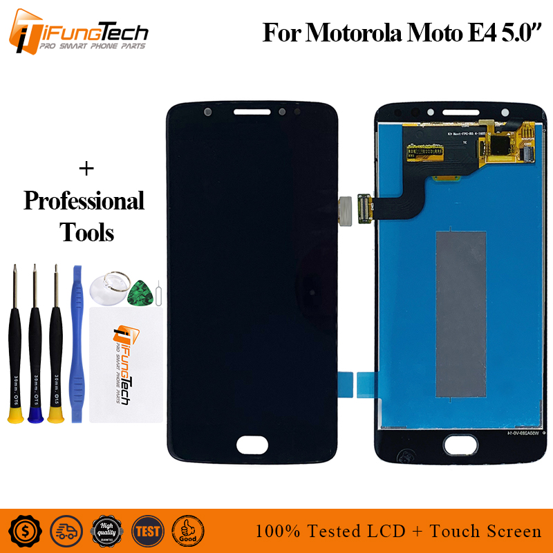 Tested A+++ LCD For <font><b>Motorola</b></font> Moto <font><b>E4</b></font> <font><b>XT1762</b></font> XT1772 LCD Display And Touch <font><b>Screen</b></font> <font><b>Screen</b></font> Digitizer Assembly Replacement +Tools image
