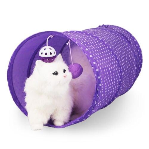 c5e57da4f573e1 Haustier Katze Tunnel Spielzeug Rohre Faltbare Crinkle Kätzchen Kaninchen  Spielen Lustige Outdoor Spiel Faltbare Spielzeug Mit Glocke Ball in  Haustier Katze ...