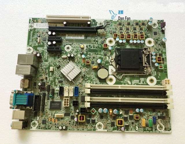 US $51 3 5% OFF|656961 001 For HP Compaq 6300 6380 Desktop Motherboard  657239 001 657239 501 Q75 LGA1155 Mainboard 100%tested fully work -in