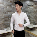 2017 Spring Autumn Cotton Dress Shirts Mens Chinese Casual Designer Shirt, Men Plus Size 3XL Slim Fit Social Shirts New