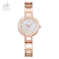 SK Womens Watches Top Brand Quartz Watch Women Dress Stainless Steel Bracelet Watch Casual Women S