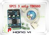 5PCS 3 Axis TB6560 3 5A CNC Engraving Machine Stepper Motor Driver Board 16 Segments Stepper