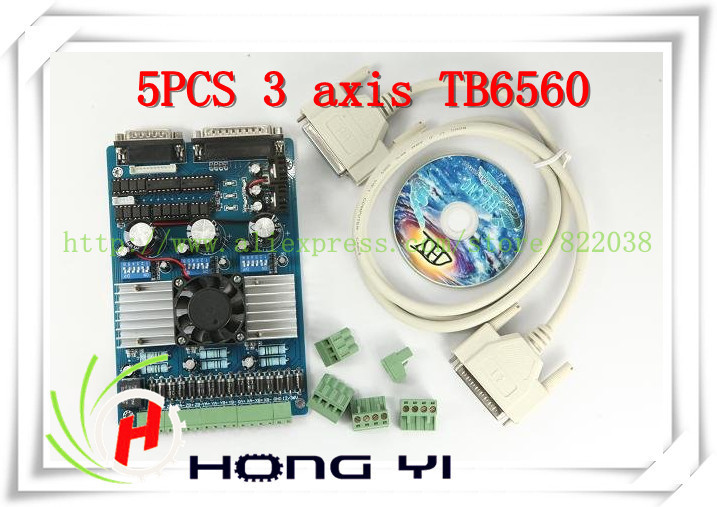 5PCS 3 axis TB6560 3.5A CNC engraving machine stepper motor driver board 16 segments stepper motor controller