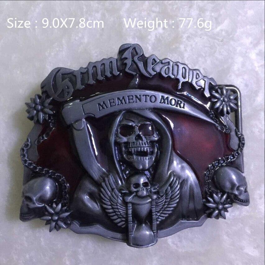 prix spécial pour sur les images de pieds de prix bas Rouge Faucheuse Crâne Cowgirls Cowboys Métal Ceinture Boucle ...