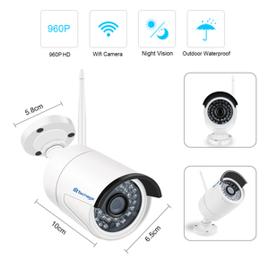 "Image 2 - Techage 8ch 1080 p 2mp 12 ""monitor lcd sem fio nvr wi fi sistema de câmera ip áudio vigilância vídeo à prova dwaterproof água cctv kit segurança"