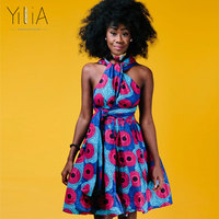 Yilia Many Ways Women Dress Summer 2018 Fashion African Print Clothing Casual Sexy A Line Beach
