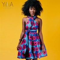 Yiliaหลายวิธีผู้หญิงแต่งตัวฤดูร้อน2018แฟชั่นแอฟริกันพิมพ์เสื้อผ้าลำลอง