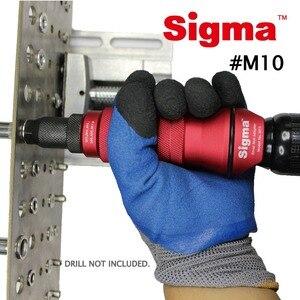 Image 3 - Sigma # M10 HEAVY DUTY nit gwintowany adapter wiertarski akumulatorowy lub elektronarzędzia akcesoria alternatywny pistolet nitowy