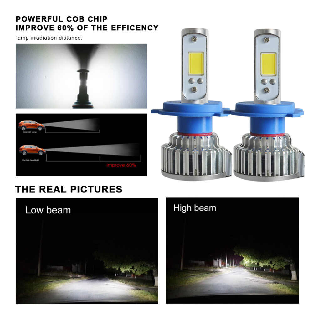 2pcs H1 LED H4 H7 H3 H11 H8 HB4 HB3 9005 9006 Car Headlight Bulbs 50W 8000LM Auto Front Bulb Automobiles Headlamp Car Light
