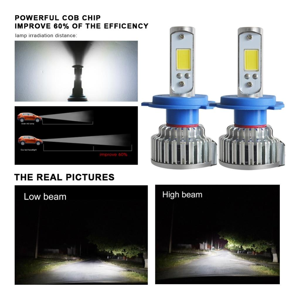 2pcs H7 LED H4 H1 H3 H11 9005 9006 Car headlight 50W 8000LM H4 Hi Lo beam Auto Front Bulb Automobiles Headlamp Car Light