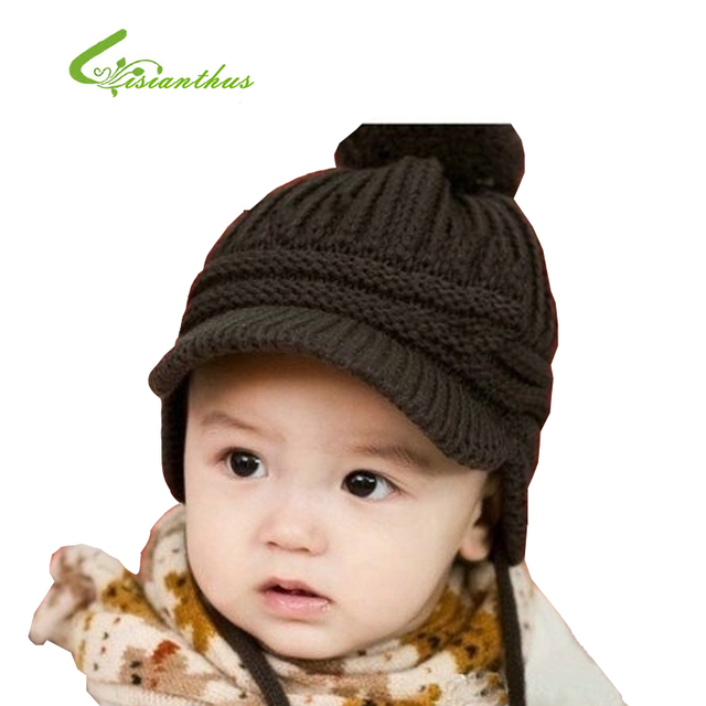 New Autumn Children's Caps Fashion Warm Knitted Wool Baby Boys Beanie Children's Winter Hats Hot Selling Girls Hat Free Shipping