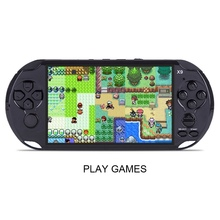 5.0″ Large Screen X9 Gamepad 8GB Game Console Handheld Gaming Machine Portable Game Player 1080*720 Resolution with Earphone