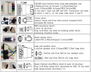Image 5 - 24 v/36 v 250 w 15A Brushless DC Onda Sinusoidale ebike Bicicletta Elettrica Hub Controller Del Motore con il pulsante destro uscita